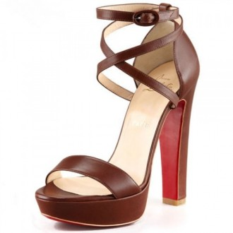 Louboutin Women's Sandals Brown Outlet