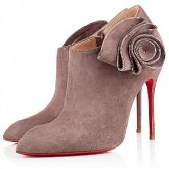 Louboutin Women's Mrs Baba 100mm Ankle Boots Taupe