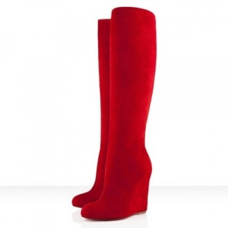 Louboutin Women's Zepita 100mm Boots Red