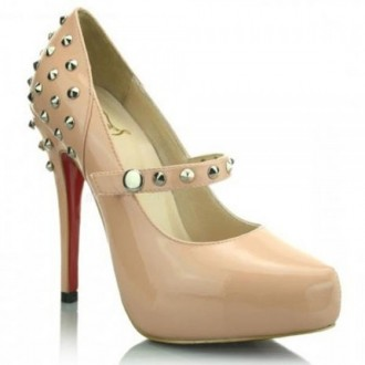Louboutin Women's Mad 120mm Mary Jane Pumps Pink