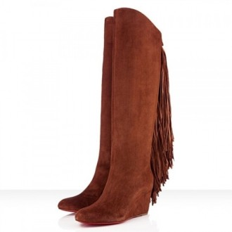 Louboutin Women's Pouliche 80mm Boots Brown